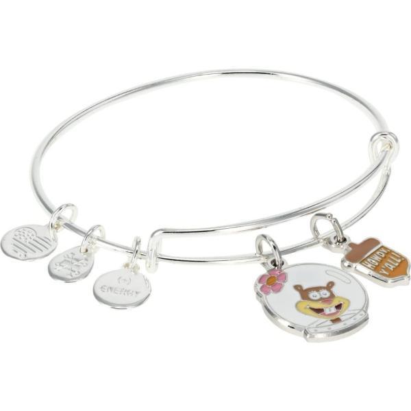 アレックス アンド アニ Alex and Ani レディース ブレスレット チャーム ジュエリー・アクセサリー SpongeBob Sandy Duo Charm Bracelet Shiny Silver