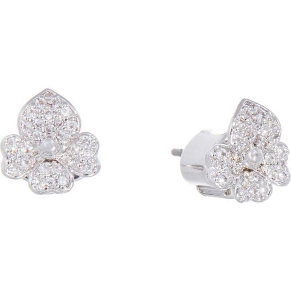 ケイト スペード Kate Spade New York レディース イヤリング・ピアス スタッドピアス Precious Pansy Pave Stud Earrings Clear/Silver