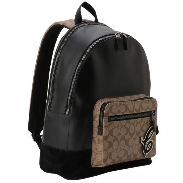 【即納】コーチ Coach ユニセックス バックパック・リュック バッグ Leather Backpack QBTAL シグネチャー F83287|fermart2-store