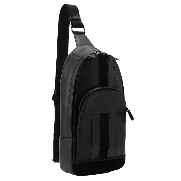 【即納】コーチ Coach メンズ ショルダーバッグ バッグ Leather Bag QBBK ヒューストン ベースボールステッチ F49333|fermart2-store