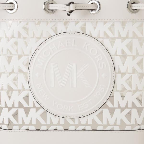 【即納】マイケル コース Michael Kors レディース ショルダーバッグ バッグ FULTON SPORT 35s0sf0m2p OPTIC WHITE ロゴ バケツバッグ バケットバッグ|fermart2-store|06