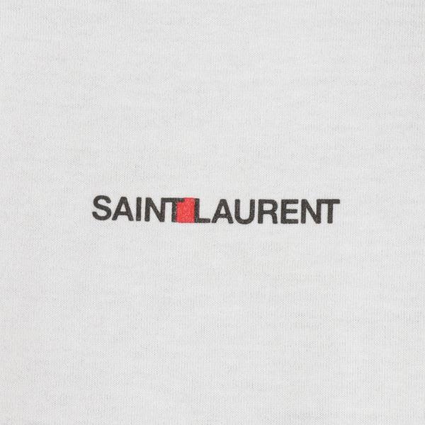 【即納】イヴ サンローラン Saint Laurent メンズ Tシャツ トップス Crew Neck Logo Tee 464572 WHITE クルーネック ロゴプリント|fermart2-store|03
