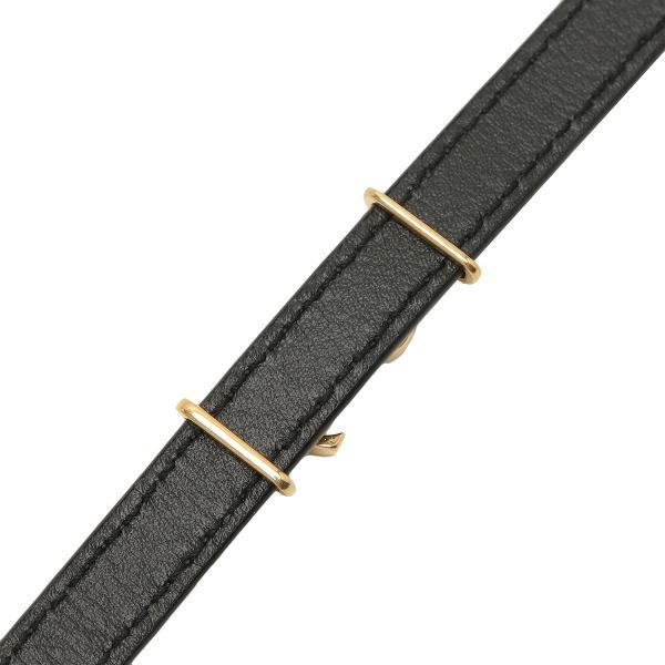 【即納】イヴ サンローラン Saint Laurent ユニセックス ブレスレット ジュエリー・アクセサリー Bracelet 536073 BOO0E 1000 Black/GD シグネチャー レザー fermart2-store 04