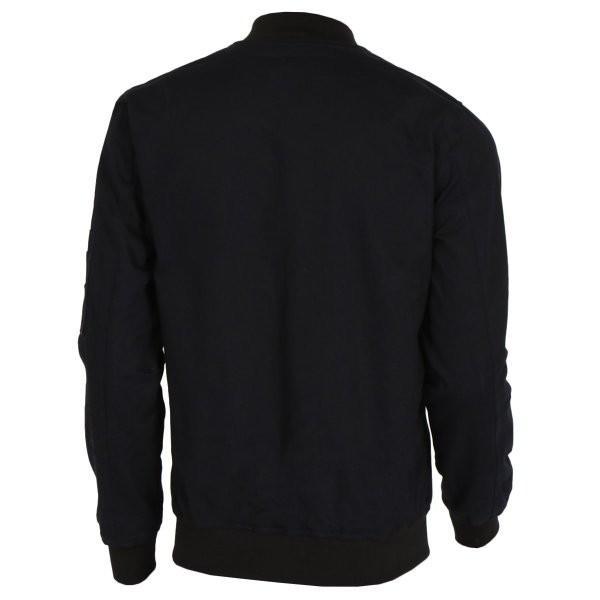【即納】エイソス ASOS メンズ ジャケット アウター Bomber Jacket With Sleeve Zip Navy|fermart2-store|02