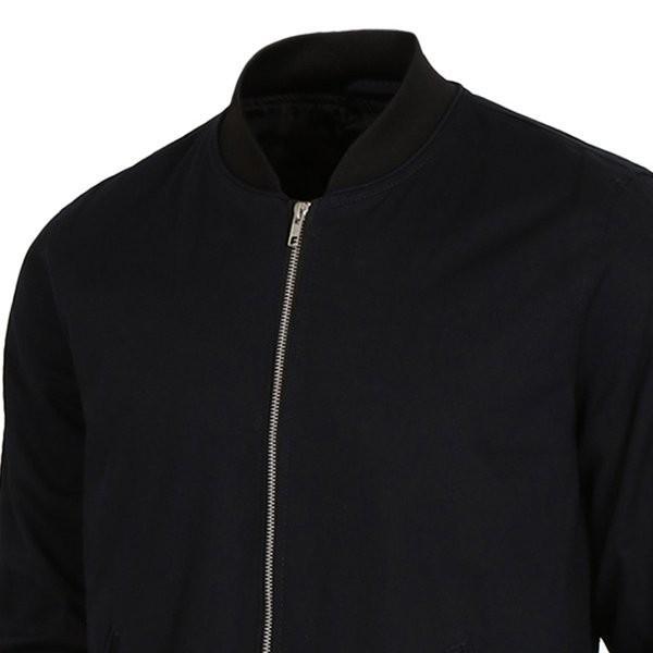 【即納】エイソス ASOS メンズ ジャケット アウター Bomber Jacket With Sleeve Zip Navy|fermart2-store|03