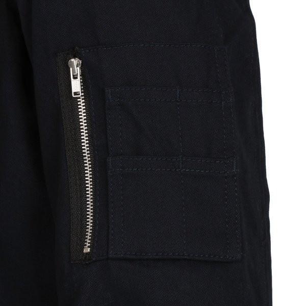 【即納】エイソス ASOS メンズ ジャケット アウター Bomber Jacket With Sleeve Zip Navy|fermart2-store|04