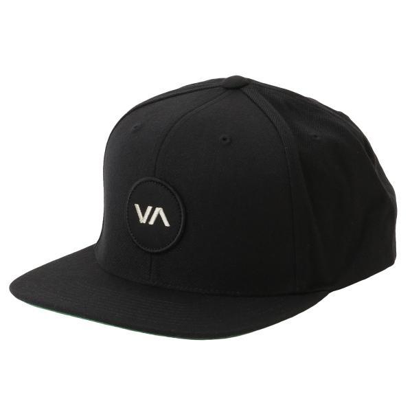 【即納】ルーカ RVCA メンズ キャップ 帽子 Va Patch Snapback BLACK スナップバック ロゴ|fermart2-store