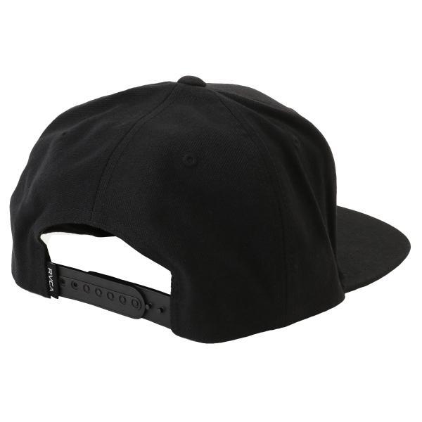 【即納】ルーカ RVCA メンズ キャップ 帽子 Va Patch Snapback BLACK スナップバック ロゴ|fermart2-store|02