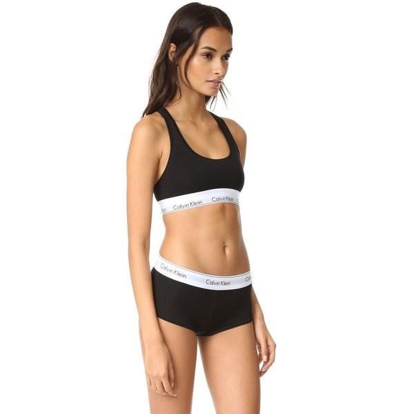 【即納】カルバンクライン Calvin Klein Underwear レディース ブラジャーのみ インナー・下着 Modern Cotton Bralette Black|fermart2-store|04