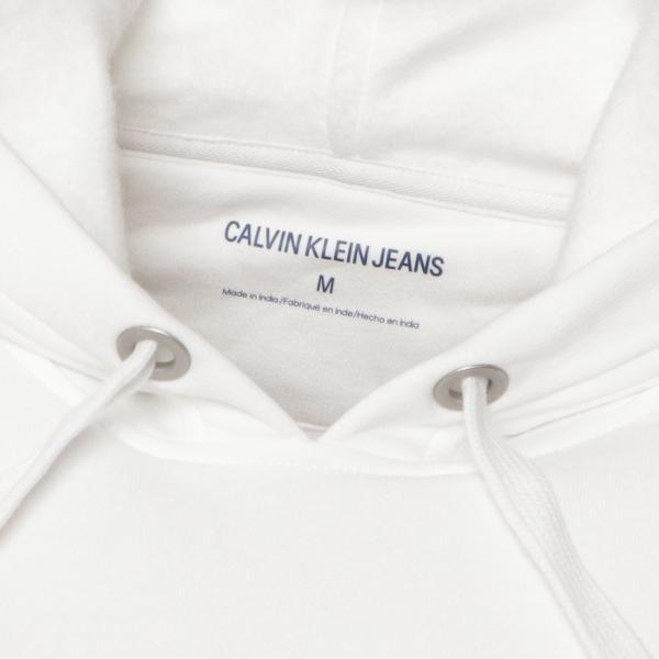 【即納】カルバンクライン Calvin Klein メンズ パーカー トップス CK MONOGRAM LOGO HOODIE BRILLIANT WHITE モノグラム プルオーバー フーディ フード|fermart2-store|04