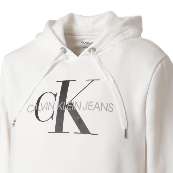 【即納】カルバンクライン Calvin Klein メンズ パーカー トップス CK MONOGRAM LOGO HOODIE BRILLIANT WHITE モノグラム プルオーバー フーディ フード|fermart2-store|05