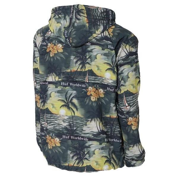 【即納】ハフ HUF メンズ ジャケット アウター アノラック VENICE PACKABLE ANORAK JACKET BLACK|fermart2-store|02