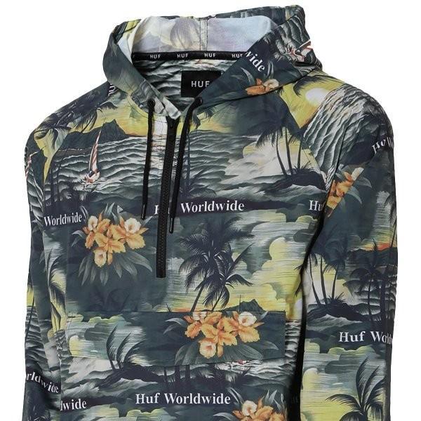 【即納】ハフ HUF メンズ ジャケット アウター アノラック VENICE PACKABLE ANORAK JACKET BLACK|fermart2-store|03