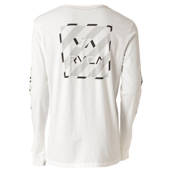 【即納】ルーカ RVCA メンズ 長袖Tシャツ トップス Hazard L/S WHITE ロンT ロングT ロゴ バイアスプリント|fermart2-store|02