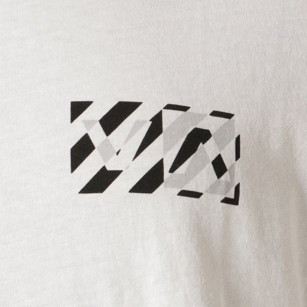 【即納】ルーカ RVCA メンズ 長袖Tシャツ トップス Hazard L/S WHITE ロンT ロングT ロゴ バイアスプリント|fermart2-store|03