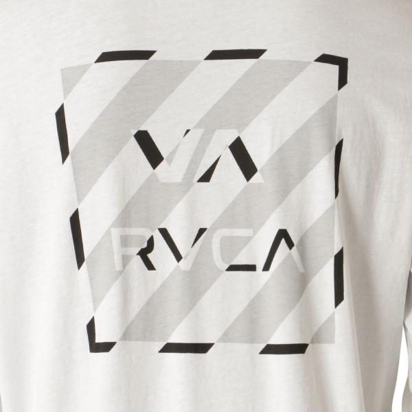 【即納】ルーカ RVCA メンズ 長袖Tシャツ トップス Hazard L/S WHITE ロンT ロングT ロゴ バイアスプリント|fermart2-store|04