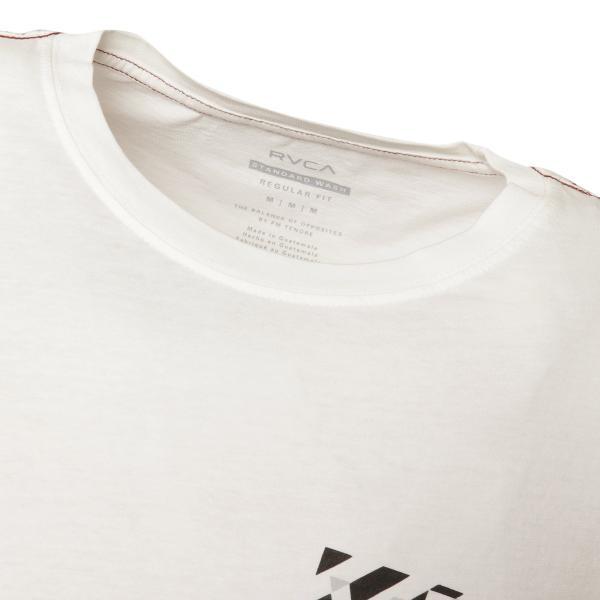 【即納】ルーカ RVCA メンズ 長袖Tシャツ トップス Hazard L/S WHITE ロンT ロングT ロゴ バイアスプリント|fermart2-store|05
