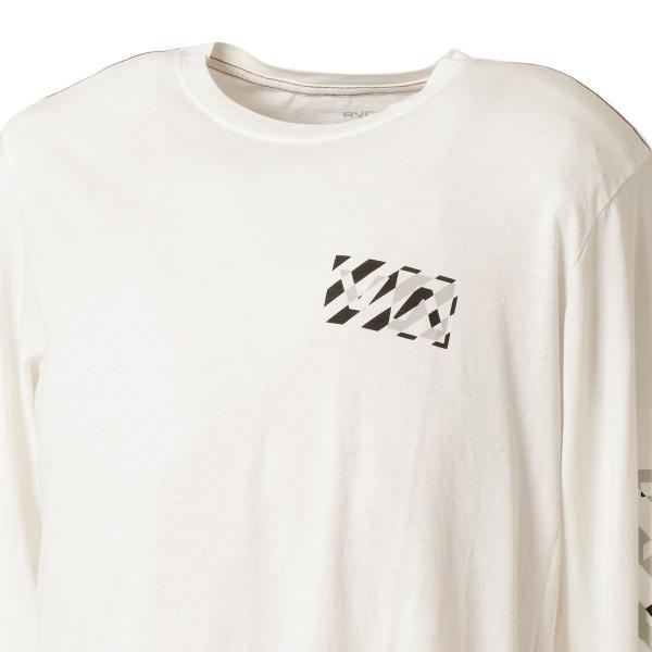 【即納】ルーカ RVCA メンズ 長袖Tシャツ トップス Hazard L/S WHITE ロンT ロングT ロゴ バイアスプリント|fermart2-store|07