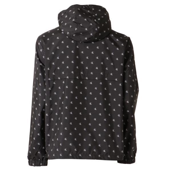 【即納】カルバンクライン Calvin Klein メンズ ジャケット アウター MONOGRAM AOP NYLON Jacket WHITE/BLACK  ロゴ総柄 フード フーディ ハーフジップ|fermart2-store|02