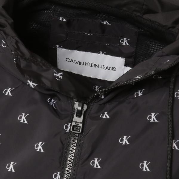 【即納】カルバンクライン Calvin Klein メンズ ジャケット アウター MONOGRAM AOP NYLON Jacket WHITE/BLACK  ロゴ総柄 フード フーディ ハーフジップ|fermart2-store|04