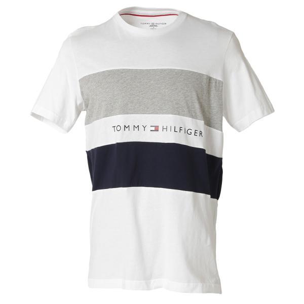 【即納】トミー ヒルフィガー Tommy Hilfiger メンズ Tシャツ トップス S/S CREW TEE WHITE ロゴ クルーネック|fermart2-store