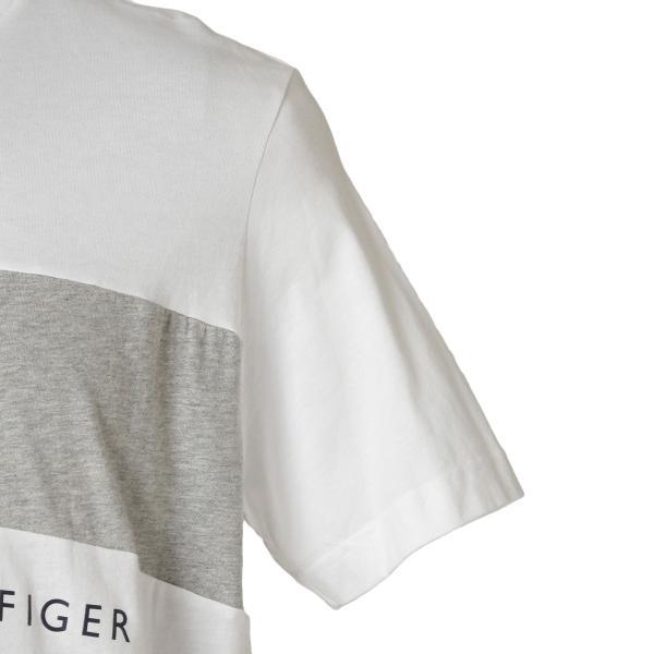 【即納】トミー ヒルフィガー Tommy Hilfiger メンズ Tシャツ トップス S/S CREW TEE WHITE ロゴ クルーネック|fermart2-store|05