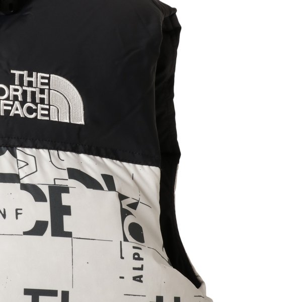 【即納】ザ ノースフェイス The North Face メンズ ベスト・ジレ トップス 1996 Retro  Nuptse Vest WHITE/BLACK マップ柄 ダウンベスト ヌプシ|fermart2-store|04