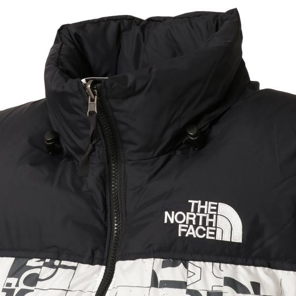 【即納】ザ ノースフェイス The North Face メンズ ベスト・ジレ トップス 1996 Retro  Nuptse Vest WHITE/BLACK マップ柄 ダウンベスト ヌプシ|fermart2-store|06