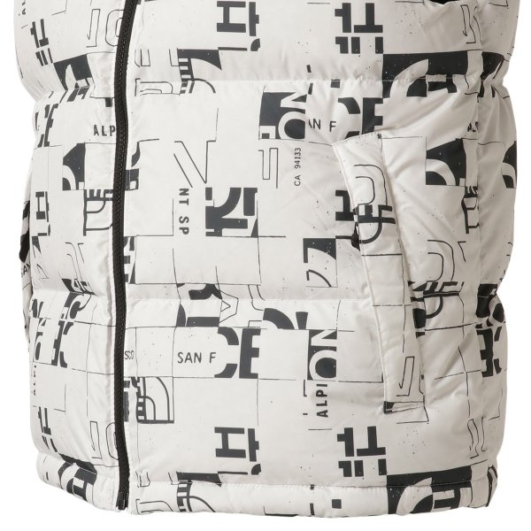 【即納】ザ ノースフェイス The North Face メンズ ベスト・ジレ トップス 1996 Retro  Nuptse Vest WHITE/BLACK マップ柄 ダウンベスト ヌプシ|fermart2-store|07