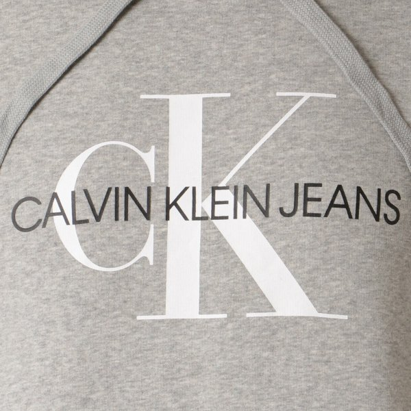 【即納】カルバンクライン Calvin Klein メンズ パーカー トップス CK MONOGRAM LOGO HOODIE MED CHAR HTHR モノグラム プルオーバー フーディ フード|fermart2-store|03