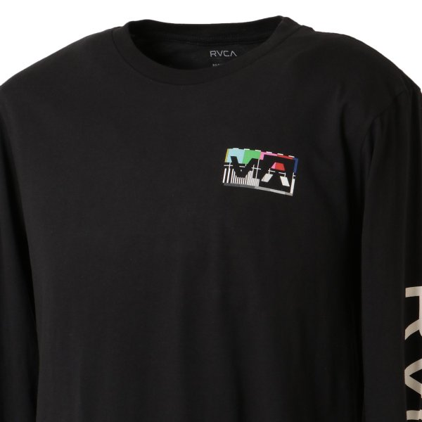 【即納】ルーカ RVCA メンズ 長袖Tシャツ トップス Testing L/S BLACK ロンT ロングT ビッグロゴ バックプリント|fermart2-store|07