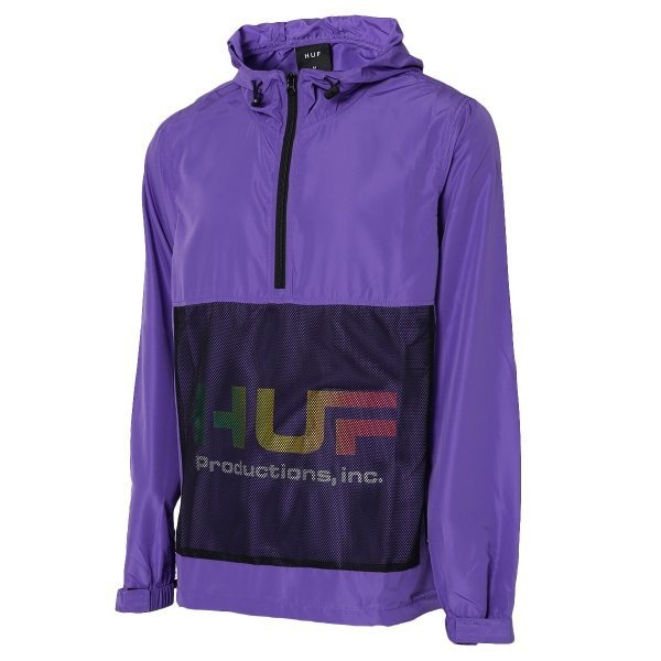 【即納】ハフ HUF メンズ ジャケット アウター アノラック HUF PRODUCTIONS INC ANORAK ULTRA VIOLET fermart2-store