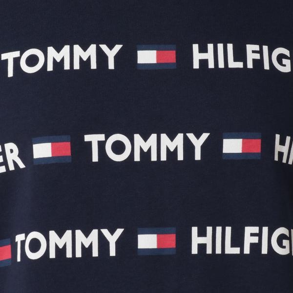 【即納】トミー ヒルフィガー Tommy Hilfiger メンズ Tシャツ トップス CREW TEE DARK NAVY ロゴ 総柄 クルーネック|fermart2-store|03