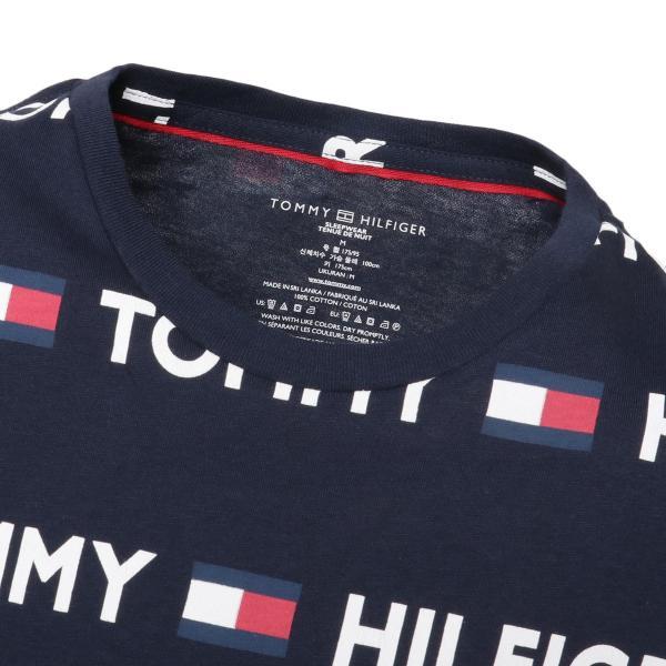 【即納】トミー ヒルフィガー Tommy Hilfiger メンズ Tシャツ トップス CREW TEE DARK NAVY ロゴ 総柄 クルーネック|fermart2-store|04