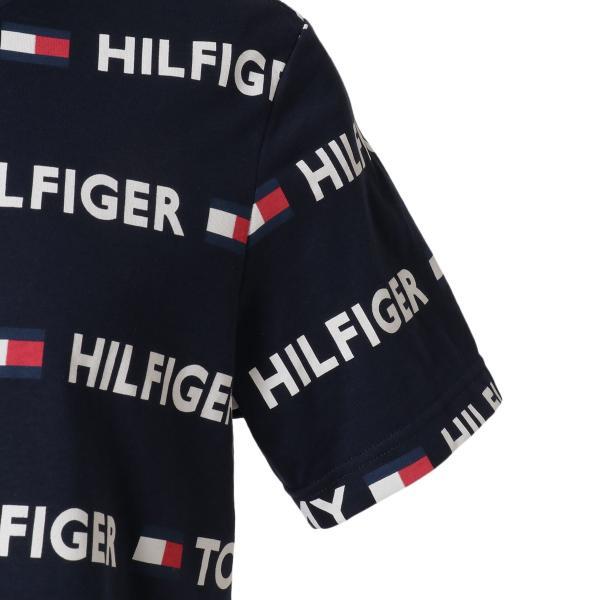 【即納】トミー ヒルフィガー Tommy Hilfiger メンズ Tシャツ トップス CREW TEE DARK NAVY ロゴ 総柄 クルーネック|fermart2-store|06