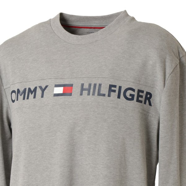 【即納】トミー ヒルフィガー Tommy Hilfiger メンズ 長袖Tシャツ トップス MODERN ESSENTIALS CREW NECK  GRAY HEATHER ロンT ロングT ロゴ プリント|fermart2-store|06