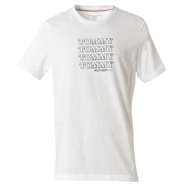 【即納】トミー ヒルフィガー Tommy Hilfiger メンズ Tシャツ トップス CREW TEE WHITE ロゴ クルーネック|fermart2-store