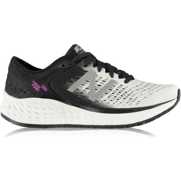 ニューバランス New Balance レディース ランニング・ウォーキング シューズ・靴 Fresh Foam 1080 v9 B Running Shoes White/Blk/Pink