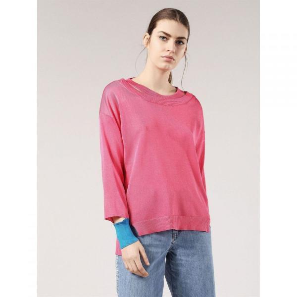 ディーゼル Diesel レディース ニット・セーター トップス M Neck Sweater Pink