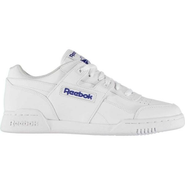 リーボック Reebok メンズ スニーカー シューズ・靴 Workout Trainers White fermart3-store
