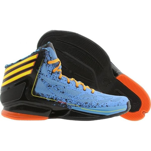 アディダス メンズ スニーカー シューズ・靴 Adidas AdiZero Crazy Light 2 joy blue / vivid yellow / orasld|fermart3-store