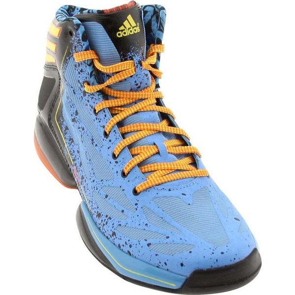 アディダス メンズ スニーカー シューズ・靴 Adidas AdiZero Crazy Light 2 joy blue / vivid yellow / orasld|fermart3-store|02