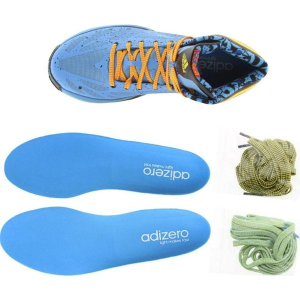 アディダス メンズ スニーカー シューズ・靴 Adidas AdiZero Crazy Light 2 joy blue / vivid yellow / orasld|fermart3-store|03
