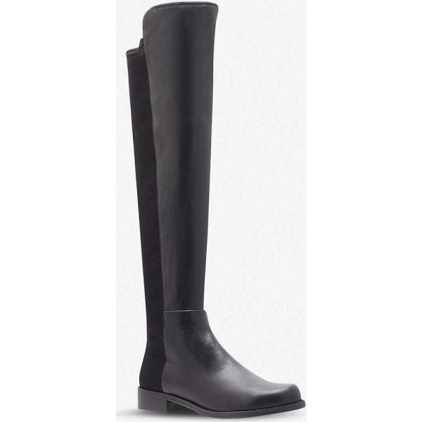 スチュアート ワイツマン stuart weitzman レディース ブーツ シューズ・靴 50/50 knee high suede and leather boots Black