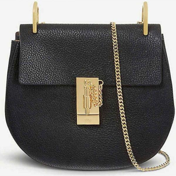 クロエ CHLOE レディース ショルダーバッグ バッグ Drew mini leather cross-body bag Black fermart3-store