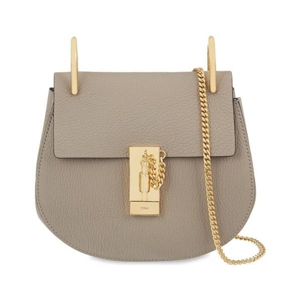 クロエ CHLOE レディース ショルダーバッグ バッグ Drew mini leather cross-body bag Motty grey|fermart3-store