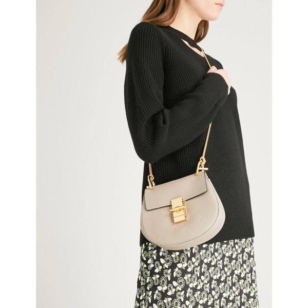 クロエ CHLOE レディース ショルダーバッグ バッグ Drew mini leather cross-body bag Motty grey|fermart3-store|02