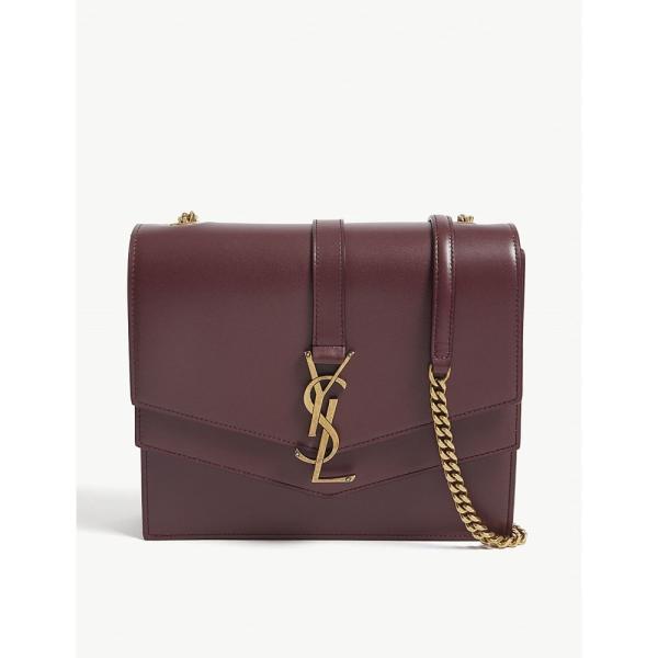 イヴ サンローラン saint laurent レディース ショルダーバッグ バッグ sulpice monogram leather shoulder bag Burgundy