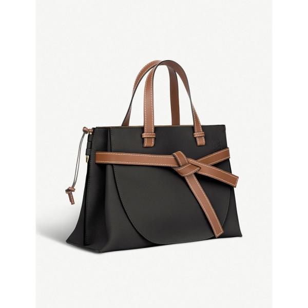 ロエベ loewe レディース ハンドバッグ バッグ gate top-handle leather tote Black/pecan color