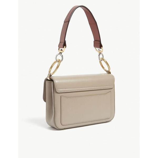 クロエ chloe レディース ショルダーバッグ バッグ c leather and suede shoulder bag Motty grey
